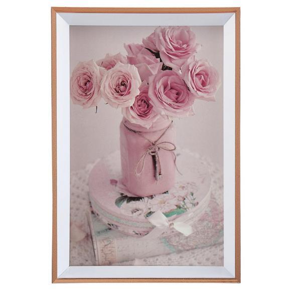 Képkeret Mara - Rózsaszín, Műanyag (16,1/11,1/1,8cm) - Modern Living
