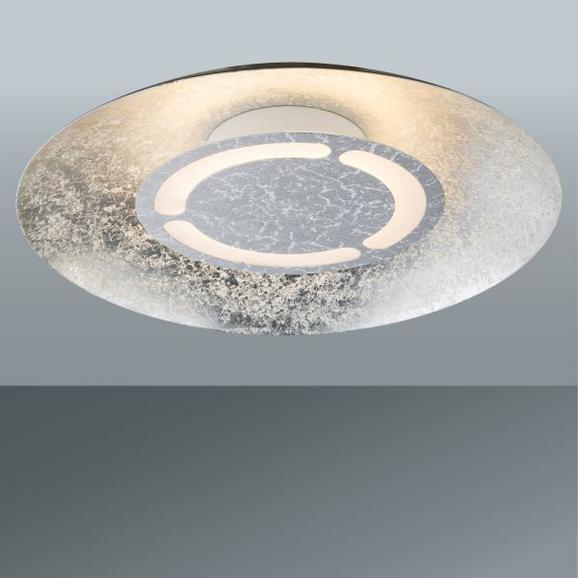 LED-Deckenleuchte Matteo, max. 12 Watt - Silberfarben, MODERN, Metall (34,5/7,3cm)