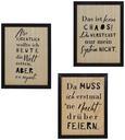 Bild Lars verschiedene Designs - Schwarz/Naturfarben, Holz (23/30cm)