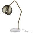 Tischleuchte Claudie - Bronzefarben/Weiß, MODERN, Metall (55cm) - Modern Living