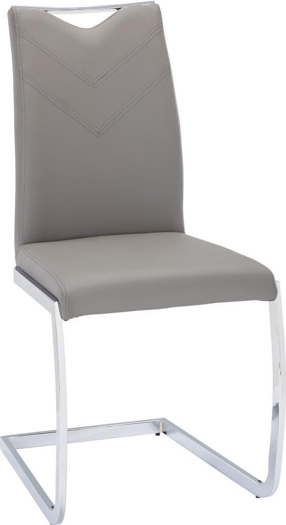 Nihajni Stol Vincent - siva/krom, Moderno, kovina/tekstil (47,5/97,5/58,5cm) - Based