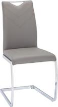 Nihajni Stol Vincent - siva/krom, Moderno, kovina/tekstil (47,5/97,5/58,5cm) - Mömax modern living