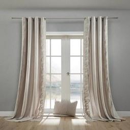 Vorhang in Grau ca. 140x245 cm 'Nele' - Grau, ROMANTIK / LANDHAUS, Textil (140/245cm) - Bessagi Home