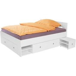 Postelja 140x200 Cm Azurro 140 - bela, Moderno, leseni material (204/75/145cm) - Mömax modern living