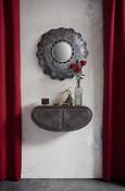 Wandregal Grau/Braun - Braun/Grau, LIFESTYLE, Metall (67,5/28/19,5cm) - Modern Living