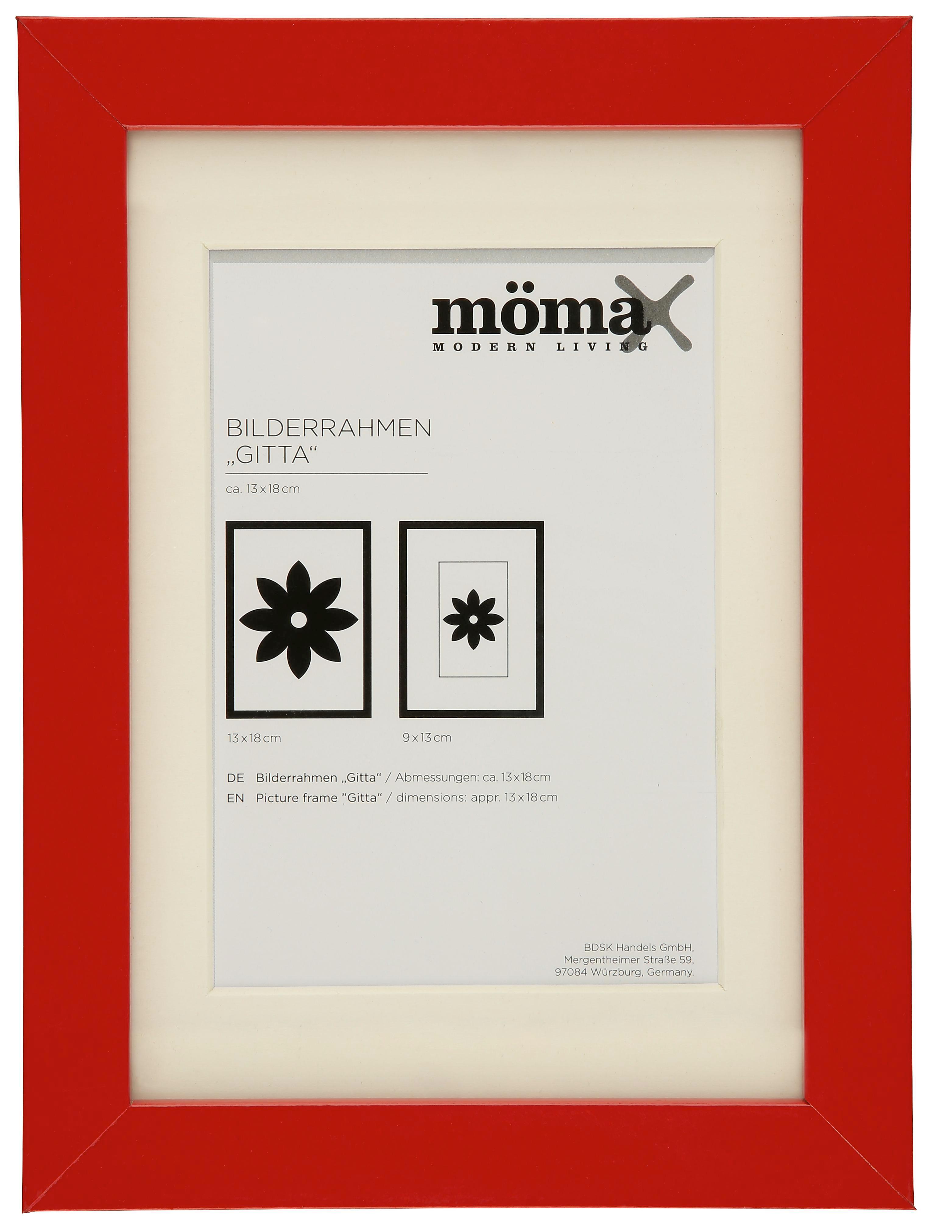 Képkeret Gitta - piros (13/18cm) - MÖMAX modern living