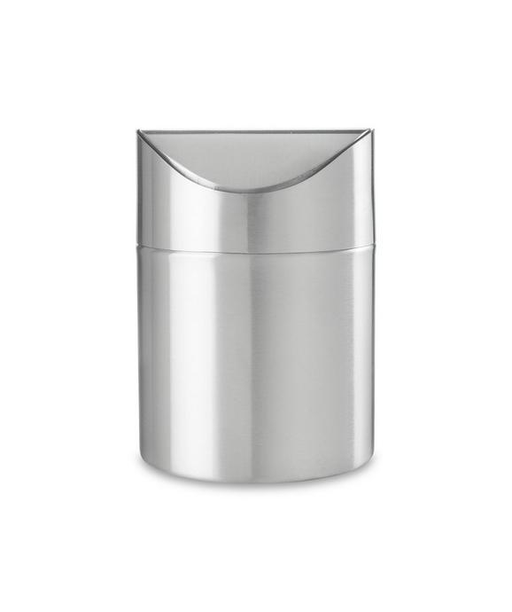 abfalleimer Edelstahl - Silberfarben, LIFESTYLE, Metall (12/16.5cm) - premium living