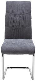 Schwingstuhl Jerome - Chromfarben/Dunkelgrau, MODERN, Textil/Metall (43/99/56,5cm) - Mömax modern living
