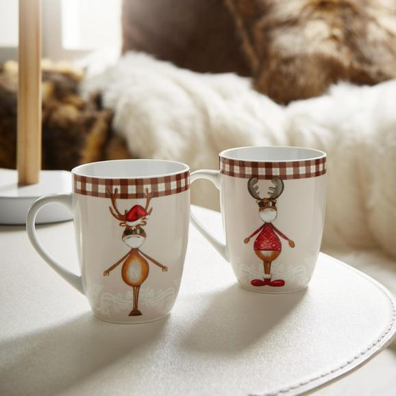 Kaffeebecher Maddy 2er Set - Multicolor, KONVENTIONELL, Keramik (8,4/10,4cm) - Mömax modern living