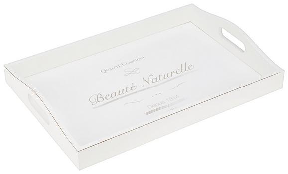 Tálca Naturelle - Fehér, romantikus/Landhaus, Faalapú anyag (40/5,8/27,6cm) - Mömax modern living
