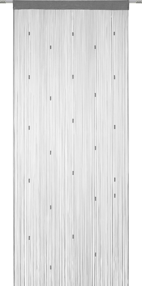 Fadenstore perle, ca. 90x245cm - Anthrazit/Petrol, ROMANTIK / LANDHAUS, Textil (90/245cm) - MÖMAX modern living