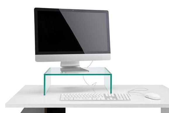 Schreibtischaufsatz Glas - Klar, Glas (45/14/35cm) - Mömax modern living