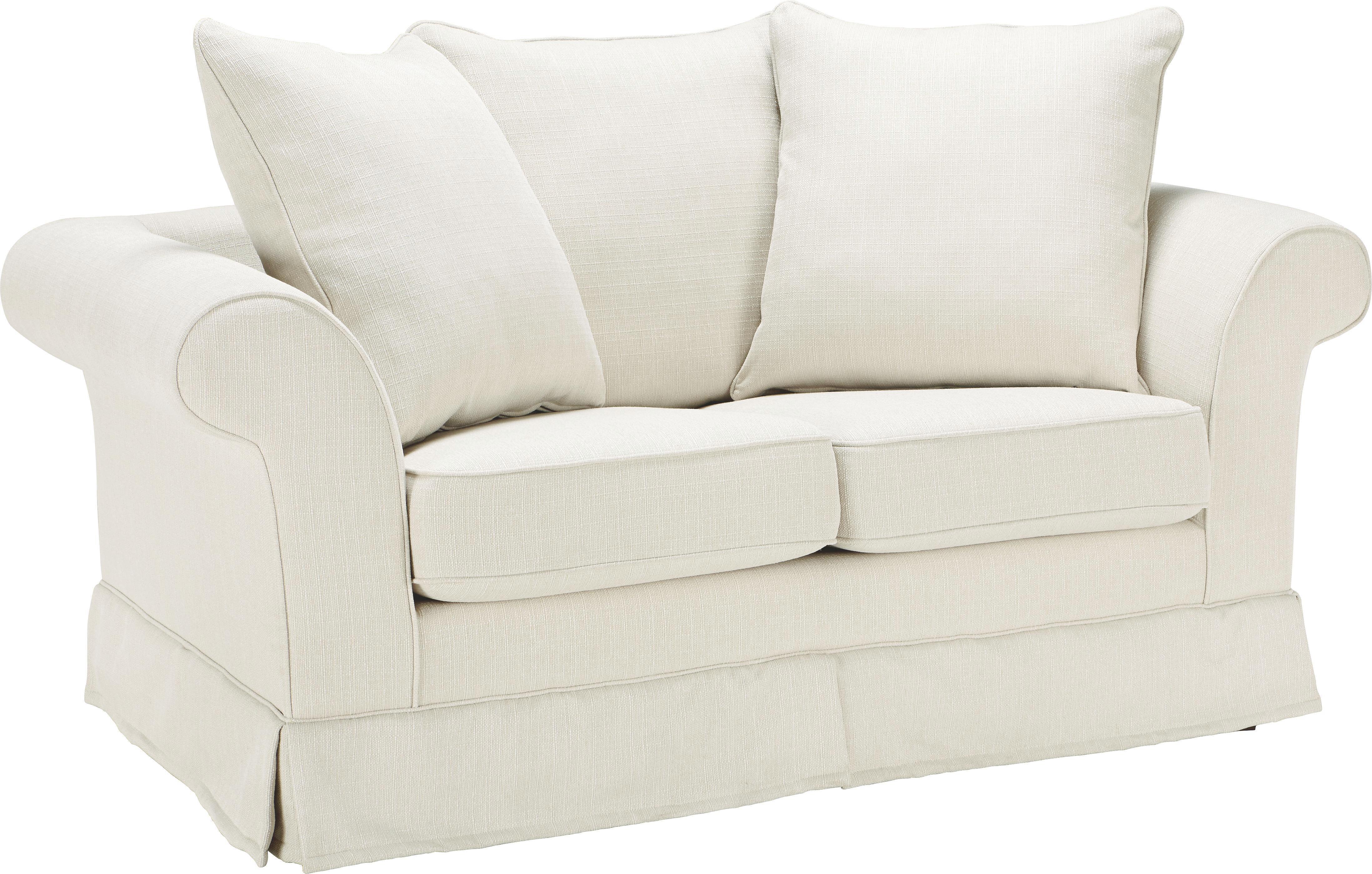 Zweisitzer-Sofa Beige - Beige/Dunkelbraun, ROMANTIK / LANDHAUS, Holz/Textil (166/71/92cm) - ZANDIARA
