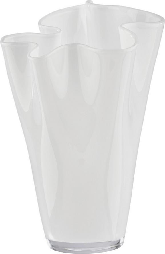 Vase Anika in Weiß aus Glas - Weiß, MODERN, Glas (18/25cm) - MÖMAX modern living