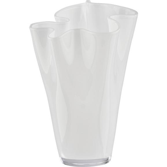 Vase Anika Weiß - Weiß, MODERN, Glas (18/25cm) - Mömax modern living