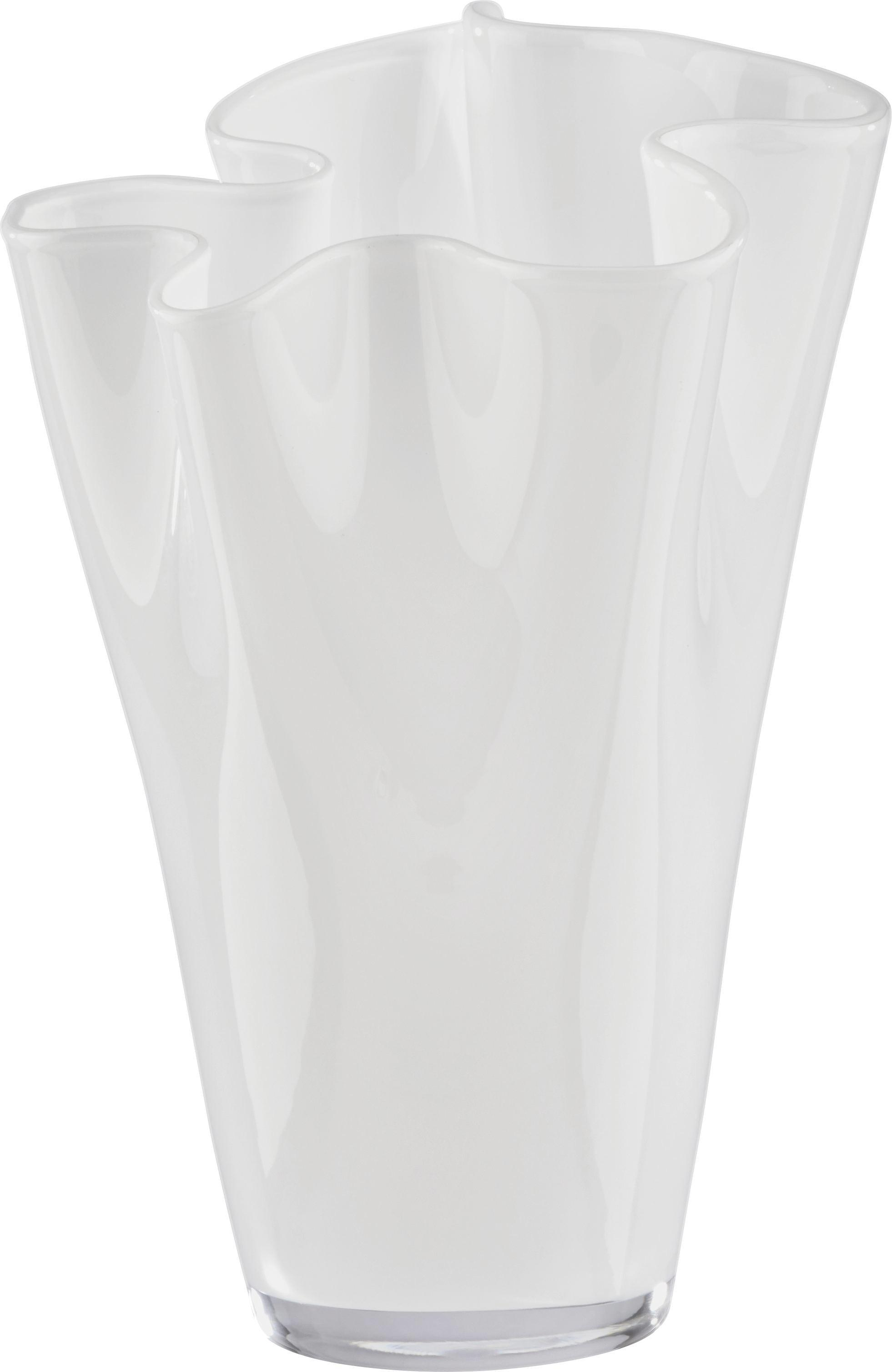 Váza Anika - fehér, modern, üveg (18/25cm) - MÖMAX modern living