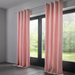 Vorhang Lucia aus Samt ca.135x245cm - Rosa, KONVENTIONELL, Textil (135/245cm) - Mömax modern living