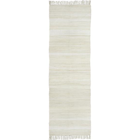 Fleckerlteppich Julia in Creme ca.70x230cm - Creme, KONVENTIONELL, Textil (70/230cm) - Mömax modern living