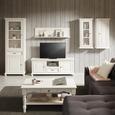 Wandboard Weiß - Weiß, ROMANTIK / LANDHAUS, Holz (130/35/25cm) - Zandiara