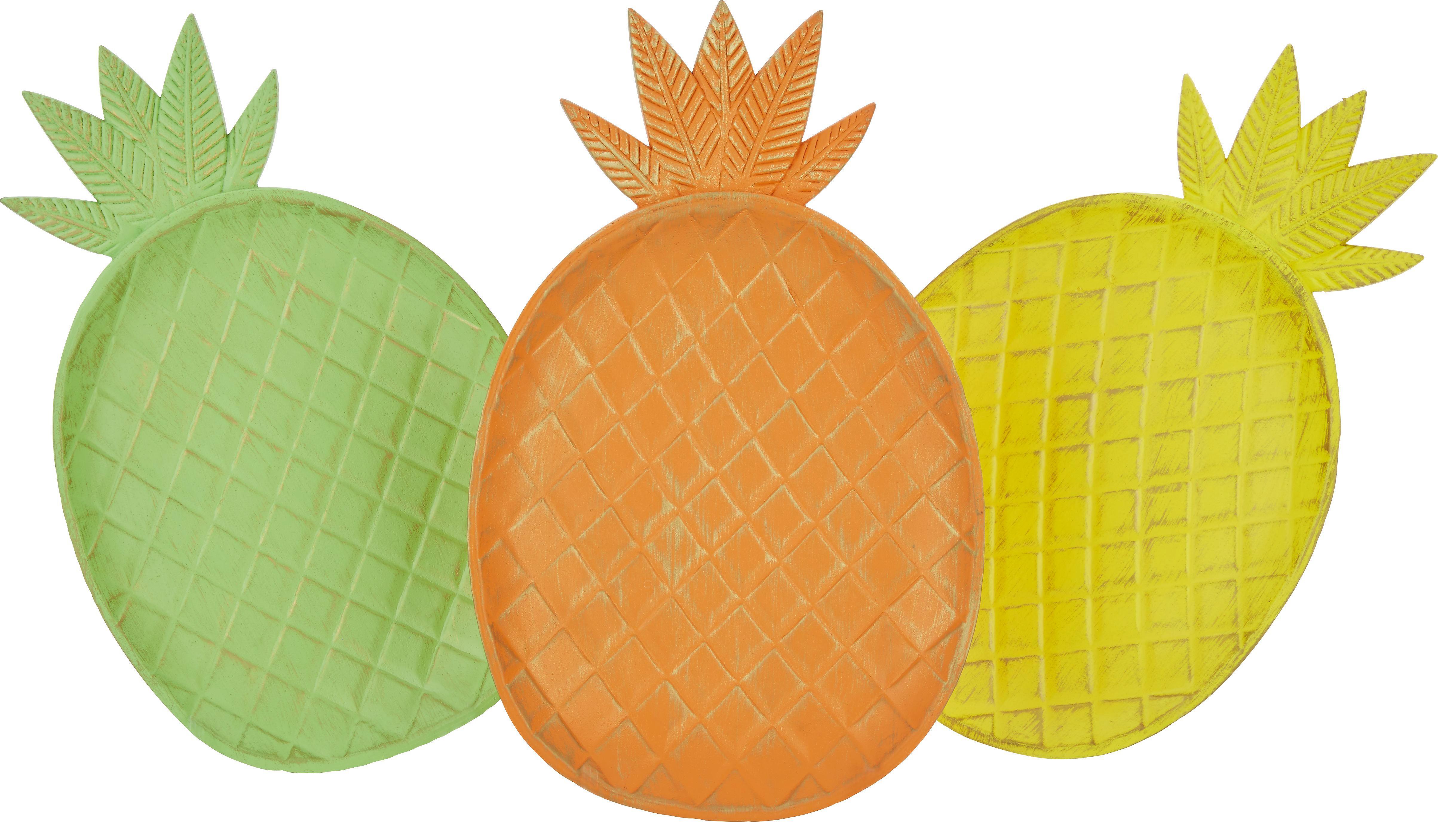 Dekoteller Laura in verschiedenen Farben - Gelb/Orange, Holzwerkstoff (19/29,5cm)