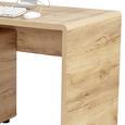 Masă De Birou Fontana Ftb03 - culoare lemn stejar, Modern, compozit lemnos (120/75,5/60cm)