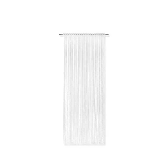 Nitasta Zavesa Tom - bela, Romantika, tekstil (95/240cm) - Modern Living