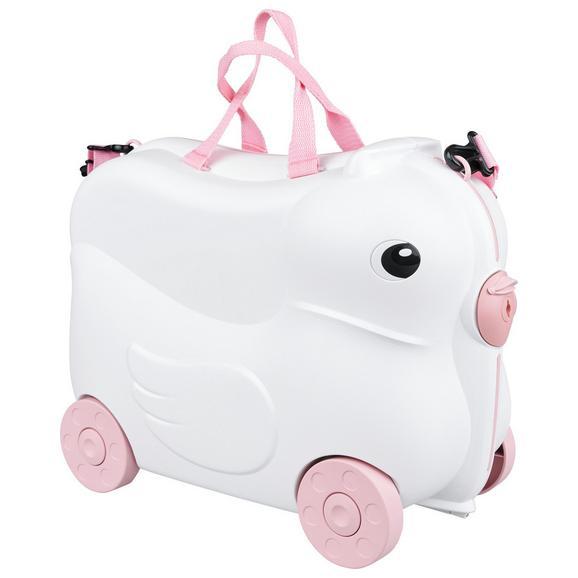Kindertrolley Daisy aus Kunstostoff - Pink/Weiß, MODERN, Kunststoff/Textil (45/34/23cm)
