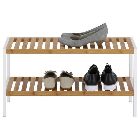 Schuhregal in Weiß/Naturfarben - Naturfarben/Weiß, MODERN, Holz/Holzwerkstoff (70/36/30cm) - Mömax modern living