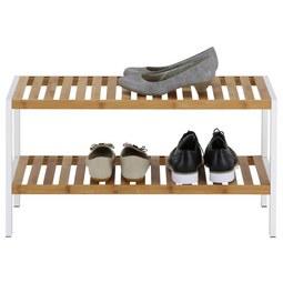 Schuhregal Weiß/Naturfarben - Naturfarben/Weiß, MODERN, Holz/Holzwerkstoff (70/36/30cm) - Mömax modern living