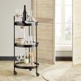 Cărucior De Servit Bruno - negru, Lifestyle, plastic/compozit lemnos (40/95/40cm) - Premium Living