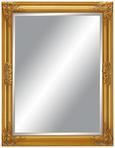 Wandspiegel Goldfarben ca. 70x90cm - Goldfarben, MODERN, Glas/Holz (70/90/3cm) - Mömax modern living