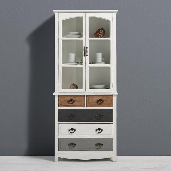 Buffet Florina - Braun/Weiß, MODERN, Holz/Metall (75,5/175/32cm) - MODERN LIVING