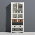 Kredenz Florina - Braun/Weiß, MODERN, Glas/Holz (75,5/175/32cm) - Modern Living