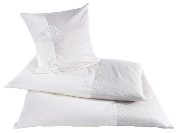 Bettwäsche Cindy, ca. 140x200cm - Weiß/Grau, MODERN, Textil (70/90cm) - premium living