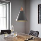 Pendelleuchte Xander - Grau/Kupferfarben, MODERN, Metall (31/31/120cm) - Mömax modern living