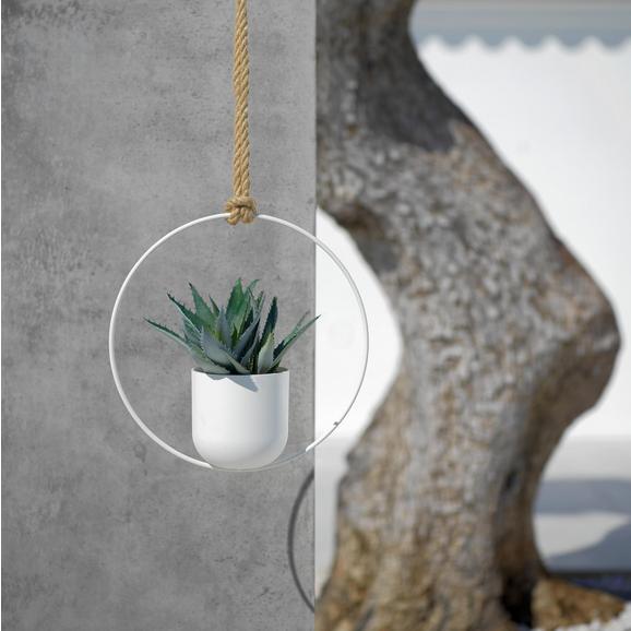 Pflanztopfhänger Pura in Weiß 30x30 cm - Weiß, Kunststoff (30/30cm)