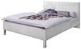 Oblazinjena Postelja Cristallo -top- - bela/krom, Konvencionalno, tekstil (140/200cm) - Modern Living