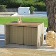 Multifunkcijsko Vrtno Pohištvo Mykonos - rjava/antracit, kovina/umetna masa - Modern Living