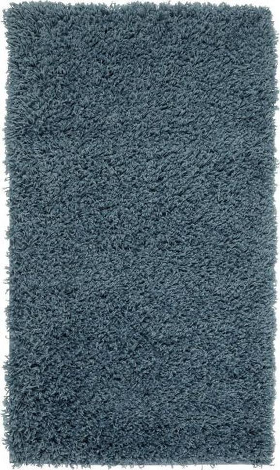 Hochflorteppich Bono, ca. 100x150cm - Blau, KONVENTIONELL, Textil (100/150cm) - BASED