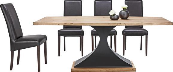Jedilna Miza Django - črna/akacija, Trendi, kovina/les (203/76/102cm) - Premium Living