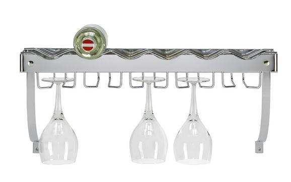 Flaschenregal Silberfarben - Metall (58/22/18cm) - Mömax modern living