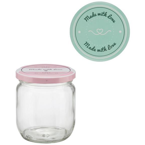 Einmachglas Rosie verschiedene Farben - Klar/Rosa, Glas (86/99cm)