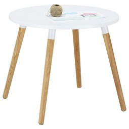 Kindertisch in Weiß/Naturfarben - Eichefarben/Naturfarben, MODERN, Holz/Holzwerkstoff (60/51/60cm) - ZANDIARA