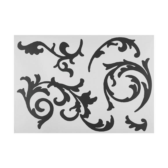 Dekorativna Nalepka Ornament - črna, umetna masa (50/70cm) - Mömax modern living