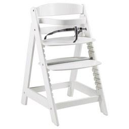 Hochstuhl in Weiß - Weiß, Holz (44,5/54/80cm) - Modern Living