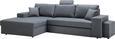 Sedežna Garnitura Smart - siva, Moderno, tekstil (167-275/85/91cm) - MODERN LIVING
