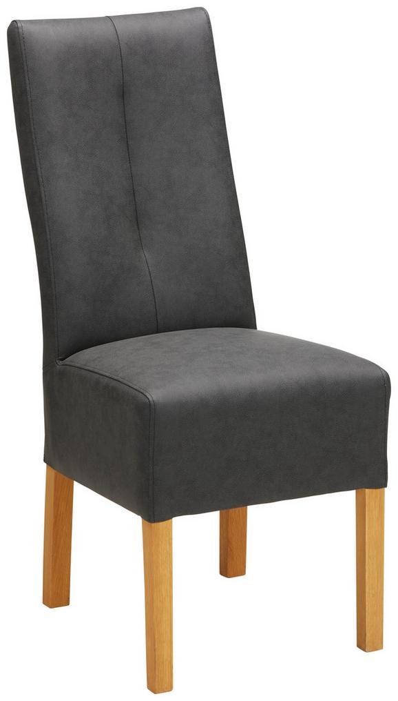 Stuhl in Anthrazit - Anthrazit, KONVENTIONELL, Holz (44/103/63cm) - Modern Living
