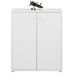 Kommode in Weiß - Weiß/Grau, MODERN, Holzwerkstoff/Kunststoff (72/86/34cm)