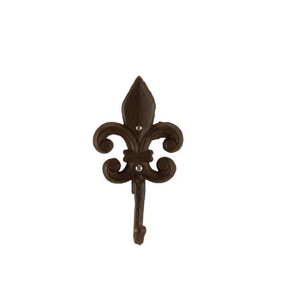 Kaveljček Fleur -sb- - temno rjava, kovina (10,5/19/5cm) - Mömax modern living