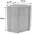 Komoda 4-you - hrast, umetna masa/leseni material (60,9/85,4/60,9cm) - Mömax modern living